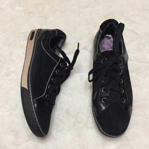 COLE Haan Air Sole G Series Black Lace Up Sneaker